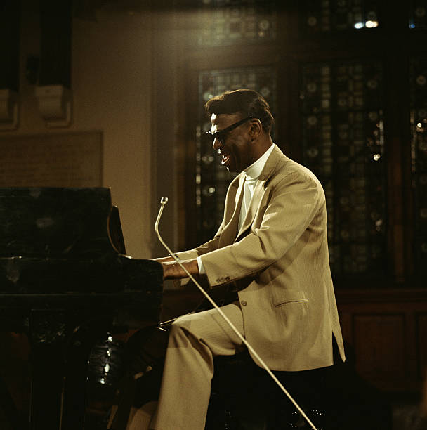 American pianist Earl Hines performs on stage at the...