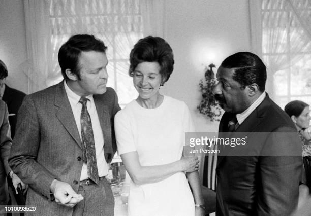 American jazz pianist Erroll Garner in Copenhagen 1968 with Danish violin player Svend Asmussen and Swedish jazz singer Alice Babs