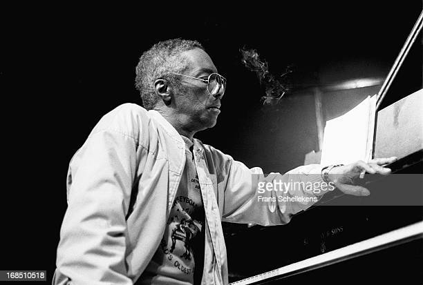 American jazz pianist Hugh Lawson performs with the Mingus Dynasty at the BIM Huis in Amsterdam Netherlands on 4th June 1987