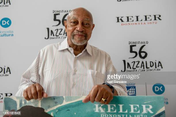 American jazz pianist Kenny Barron poses for a photo before a Press Conference during 56th Donostiako Jazzaldia Jazz Festival on July 23, 2021 in San...