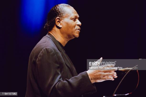 American jazz pianist McCoy Tyner performs live on stage in London circa 2002