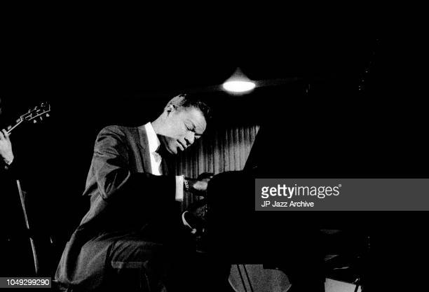 American jazz pianist singer and composer Nat King Cole performing in Copenhagen Denmark April 1960