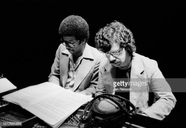 American jazz pianists composers and bandleaders Herbie Hancock and Chick Corea Copenhagen Denmark 1978