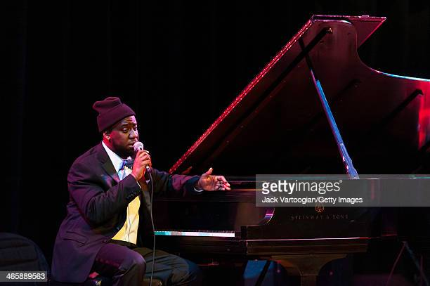 American Jazz pianists Robert Glasper performs at the Blue Note Records 75th Anniversary Concert during the 2014 NYC Winter JazzFest 10th Anniversary...