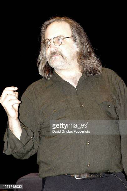 American jazz producer and impresario Kip Hanrahan appears on stage in London on 6th April 2003