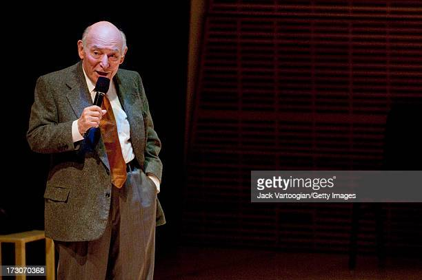 American jazz producer and promotor George Wein hosts 'George Wein and Friends' at Carnegie Hall's 'Just Jazz The Joyce Wein Series' concert 'To...
