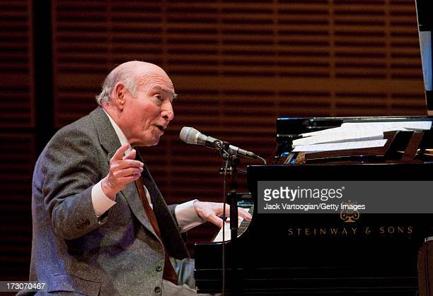 American jazz producer and promotor George Wein plays piano with 'George Wein and Friends' at Carnegie Hall's 'Just Jazz The Joyce Wein Series'...