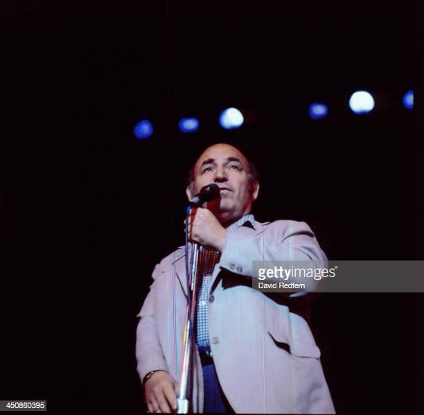 American jazz producer George Wein on stage circa 19751985