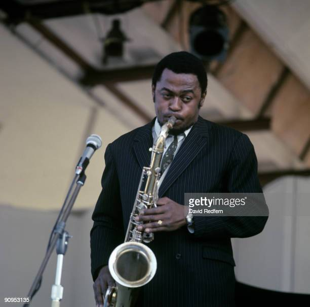 Saxophonist Archie Shepp performs on stage circa 1970