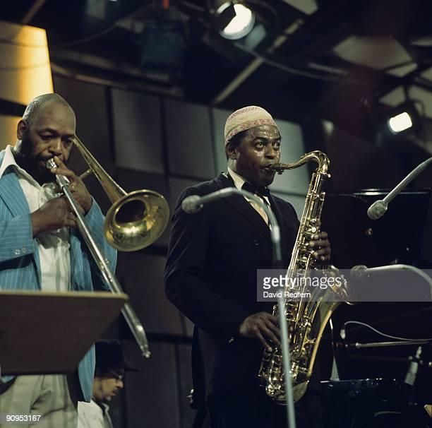 Saxophonist Archie Shepp performs on stage at the Montreux Jazz Festival held in Montreux Switzerland on July 18 1975
