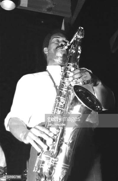 American jazz saxophonist Albert Ayler performing at Jazzhouse Montmartre Copenhagen 1962.