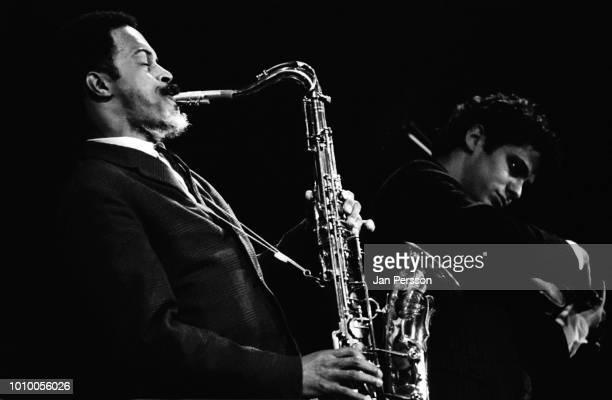 American jazz saxophonist Albert Ayler with Michael Sampson in concert Copenhagen October 1966.