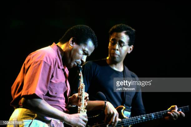 American jazz saxophonist and composer Wayne Shorter and American jazz bassist Stanley Clarke at North Sea Jazz Festival, The Hague, Netherlands,...