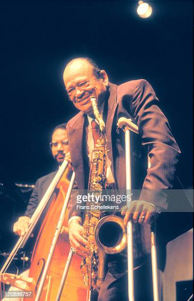 American jazz saxophonist Arnett Cobb performs live on stage at the North Sea Jazz festival in the Congresgebouw, The Hague, Netherlands on 12th July...