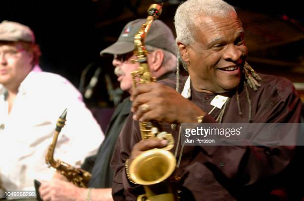 American jazz saxophonist Bobby Watson with Benjamin Koppel and Phil Woods at Copenhagen Jazz House July Denmark 9 2008