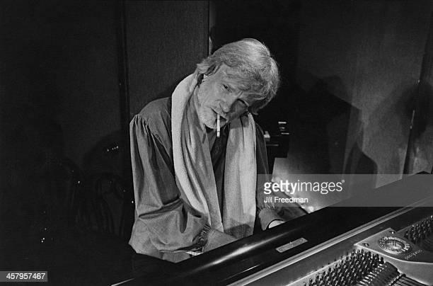 American jazz saxophonist clarinetist composer and arranger Gerry Mulligan 1981