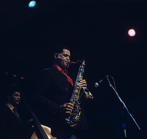 Saxophonist Dexter Gordon performs on stage at the...