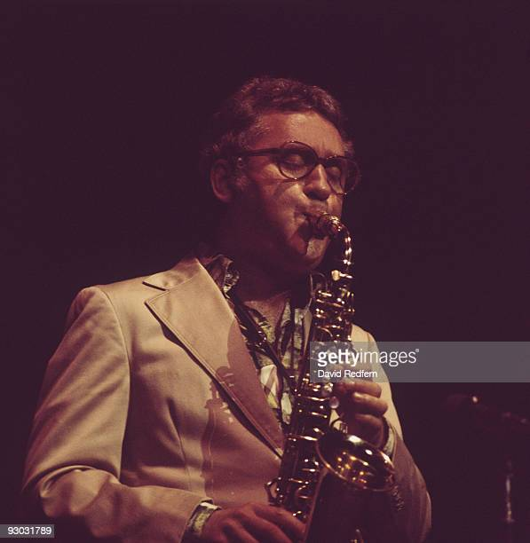 American jazz saxophonist Lee Konitz performs on stage in the 1970's
