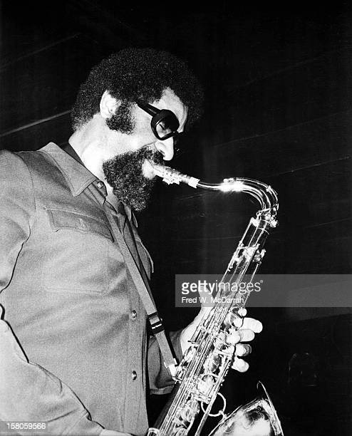 American jazz saxophonist Sonny Rollins performs onstage at the Village Vanguard New York New York February 7 1975