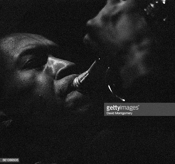 American jazz saxophonist trumpeter and composer Ornette Coleman performing circa 1965