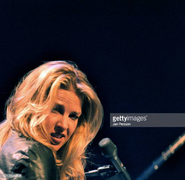 American jazz singer and pianist Diana Krall performing at Tivoli Concert Hall Copenhagen Denmark 10 February 2004