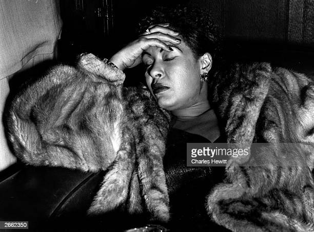 American jazz singer Billie Holiday fast asleep Original Publication Picture Post 7380 Billie Holiday unpub