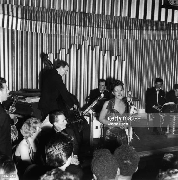 American jazz singer Billie Holiday in concert 1954 Picture Post 7380 Billie Holiday unpub