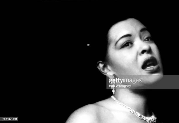 American jazz singer Billie Holiday performing at the Tiffany Club Los Angeles California 1951