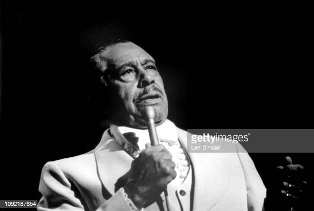 American jazz singer dancer and bandleader Cab Calloway performs at the Paradise Theater in Detroit Michigan in 1979