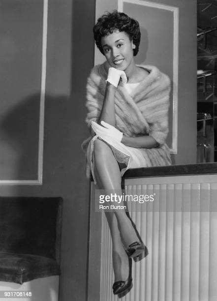American jazz singer Diahann Carroll at the Washington Hotel in London 25th October 1957 She is in the UK to appear on the television show 'Chelsea...