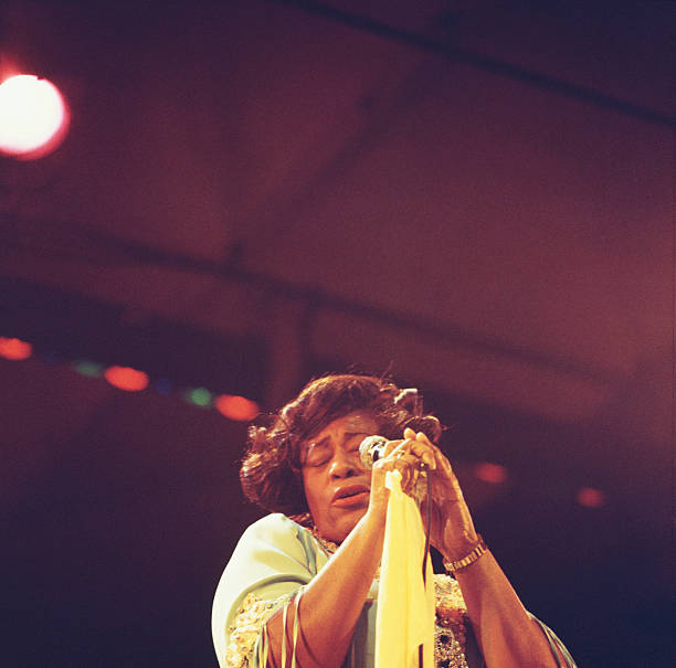Ella Fitzgerald performs on stage at the Newport Jazz...