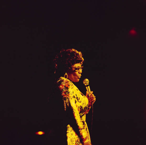 Ella Fitzgerald Performs On Stage Wall Art