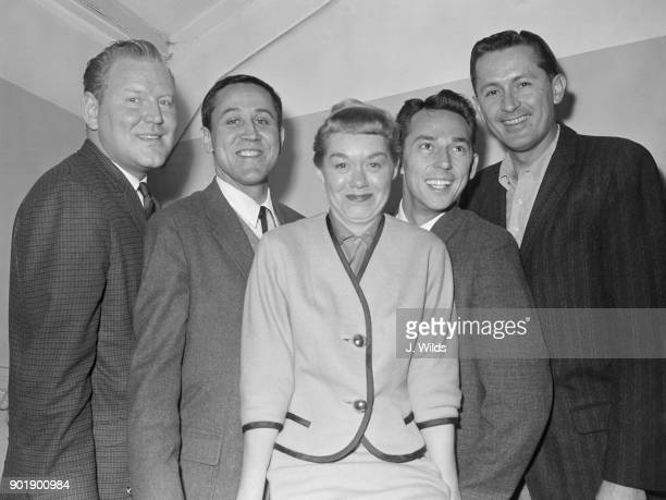 American jazz singer June Christy and vocal quartet The Four Freshmen arrive at London Airport for a nineday tour of the UK 8th February 1961 From...