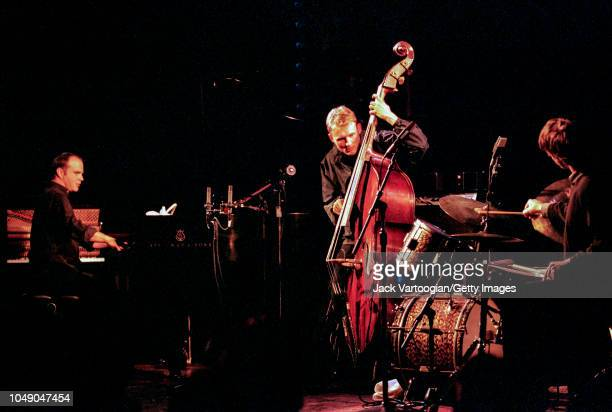 American Jazz trio Medeski Martin and Wood perform in an allacoustic program at the Angel Orensanz Foundation Center for the Arts New York New York...