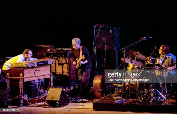 American Jazz trio Medeski Martin and Wood perform in an allacoustic program at the Brooklyn Academy of Music Opera House Brooklyn New York November...