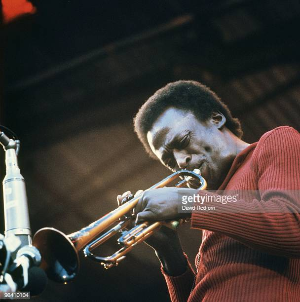 Miles Davis performing live onstage at The Isle Of Wight Festival 1970 on August 1st 1970 Image is part of David Redfern Premium Collection