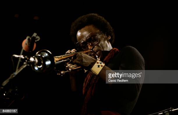 American jazz trumpeter and composer Miles Davis performs live on stage in Berlin West Germany in November 1973