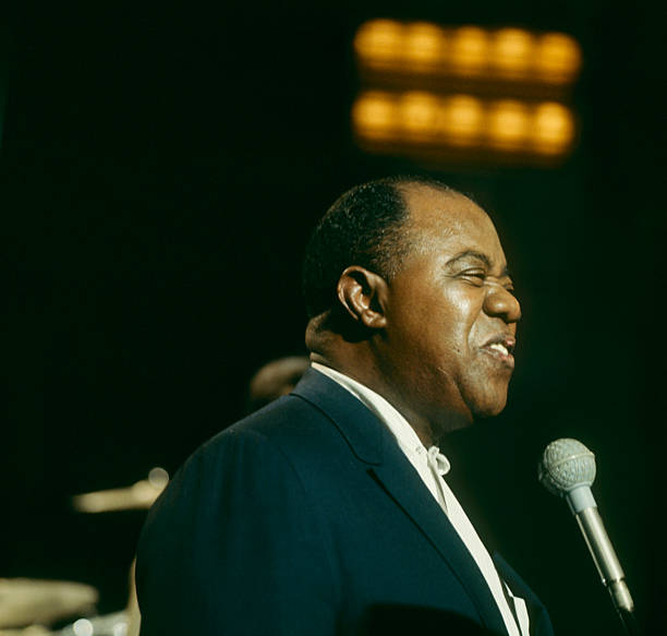 Louis Armstrong Performs On Tv Show Wall Art