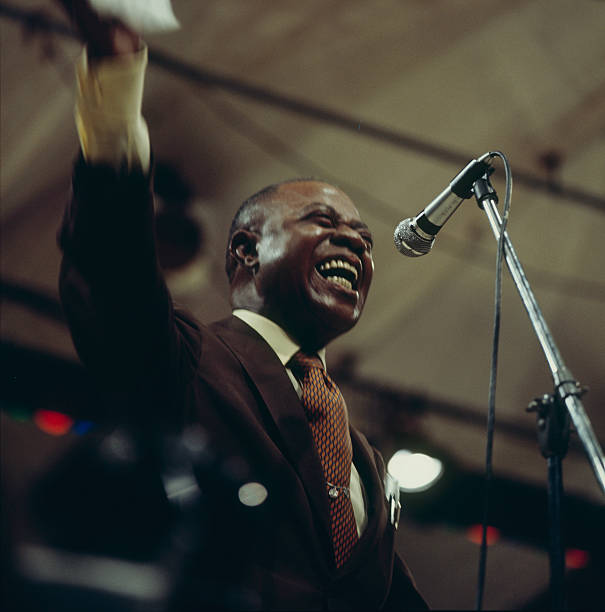 Louis Armstrong On Stage At Newport Wall Art