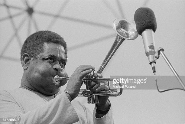 American jazz trumpeter Dizzy Gillespie performing at the Capital Radio Jazz Festival at Knebworth House Hertfordshire 18th July 1982
