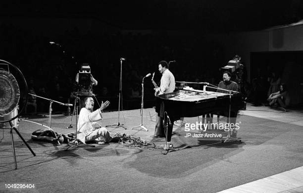 American jazz trumpeter Don Cherry Carlos Ward and Dollar Brand performing at Berliner Jazz Tage Berlin Germany 1972