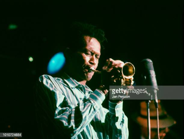 American jazz trumpeter Don Cherry performing at Jazzhouse Montmartre Copenhagen Denmark July 1987