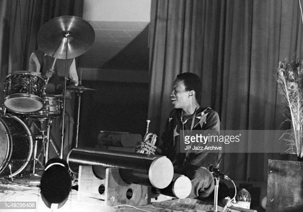 American jazz trumpeter Don Cherry performing in Copenhagen Denmark 1970