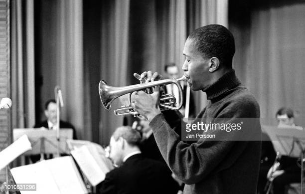 American jazz trumpeter Don Cherry performing in Odense Denmark 1966