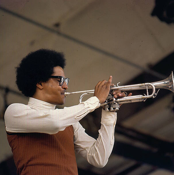 Jazz trumpeter Jimmy Owens on stage at the Newport...
