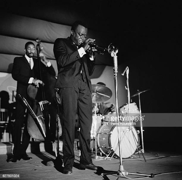 American jazz trumpeter Miles Davis at the Antibes Jazz Festival