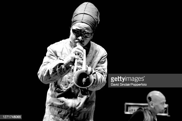 American jazz trumpeter Roy Hargrove performs live on stage at Queen Elizabeth Hall in London on 3rd April 2004