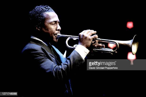 American jazz trumpeter Roy Hargrove performs live on stage at Ronnie Scott's Jazz Club in Soho London on 9th July 2007