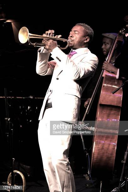 American jazz trumpeter Roy Hargrove performs live on stage at Ronnie Scott's Jazz Club in Soho London on 29th July 2009