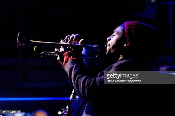 American jazz trumpeter Roy Hargrove performs live on stage at the Jazz Cafe in Camden London on 15th November 2002